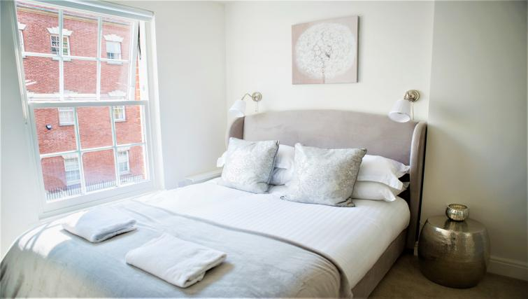 Bright bedroom at The Clarence Apartments - Citybase Apartments