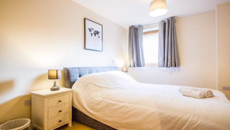 Double bed at Norwich Central Apartments - Citybase Apartments