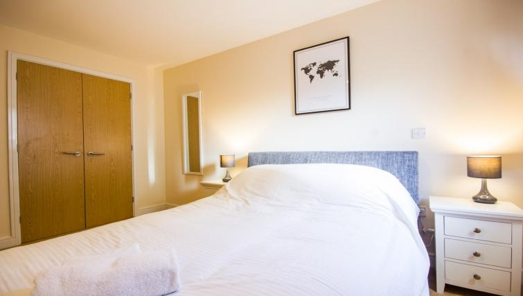 Spacious bedroom at Norwich Central Apartments - Citybase Apartments