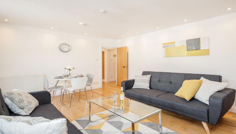 Sofa at Great Mayfair Apartment - Citybase Apartments