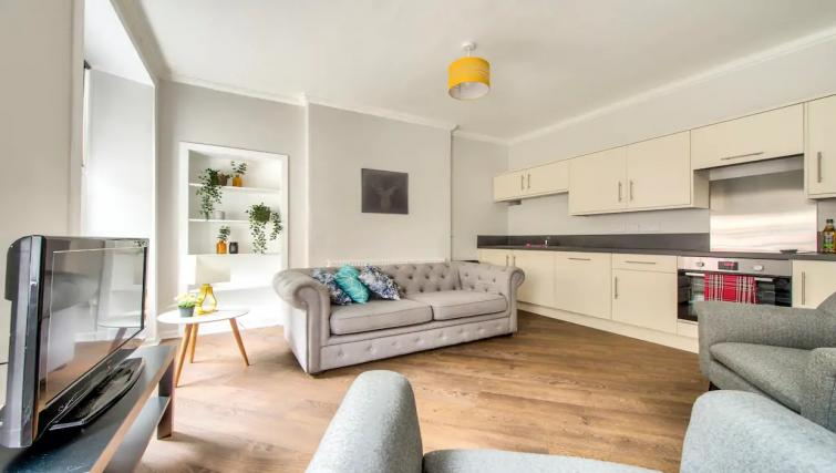 Open-plan living area at Thistle Street Apartment - Citybase Apartments