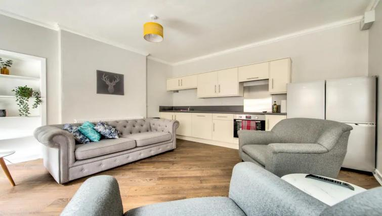 Spacious living area at Thistle Street Apartment - Citybase Apartments