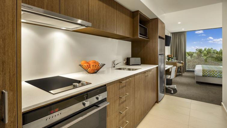 Kitchen at Quest Mounts Bay Road Apartments - Citybase Apartments