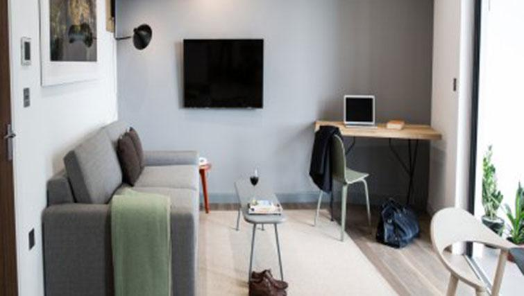 Living area at Adagio London Brentford Apartments - Citybase Apartments
