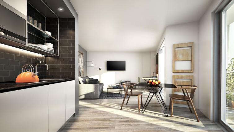 Living room at Adagio London Brentford Apartments - Citybase Apartments