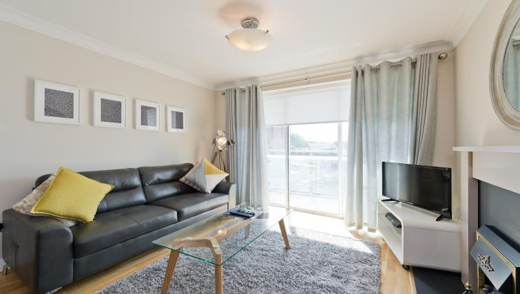 Spacious living room at Iveagh Court Apartments - Citybase Apartments
