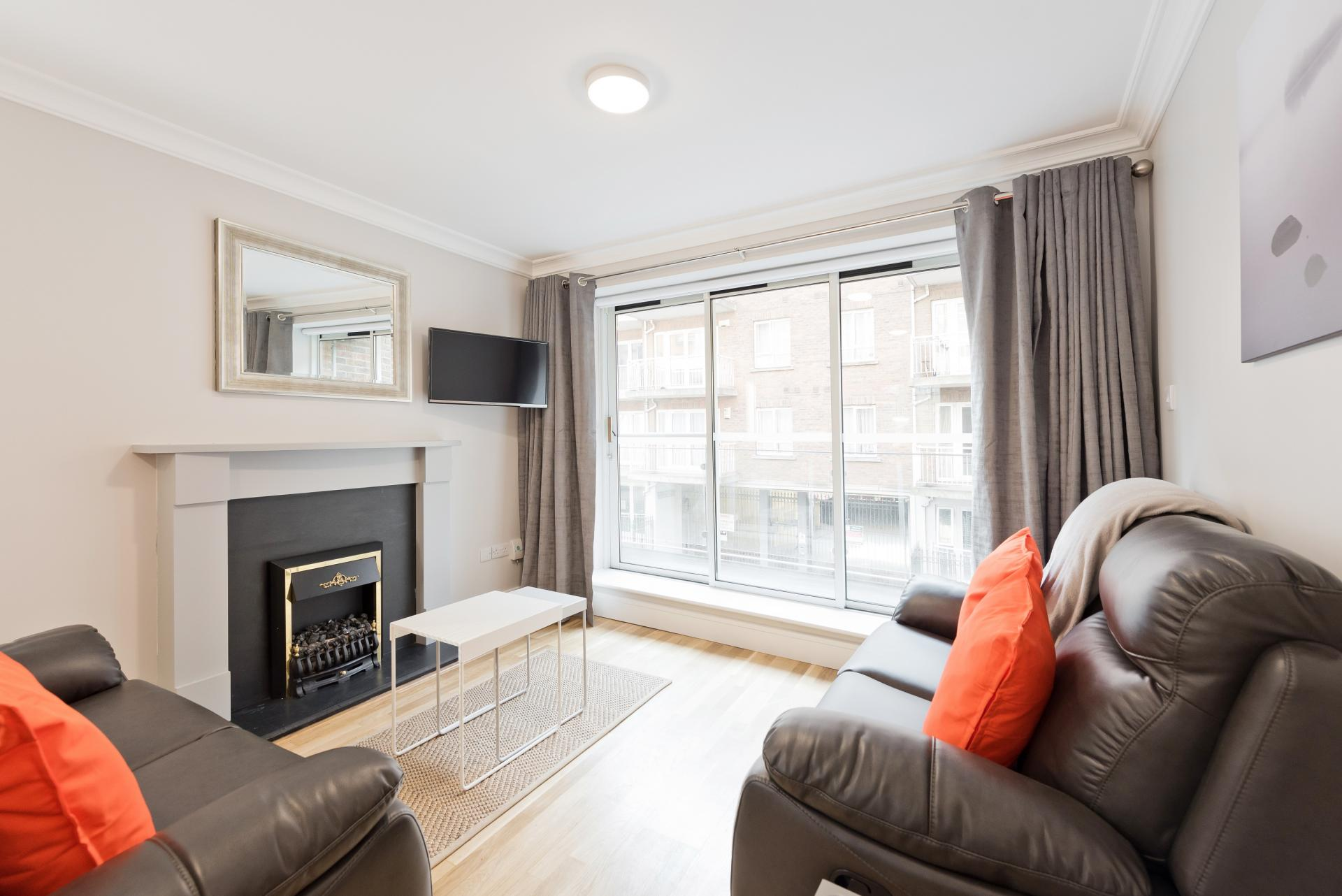 Bright lounge at Iveagh Court Apartments - Citybase Apartments