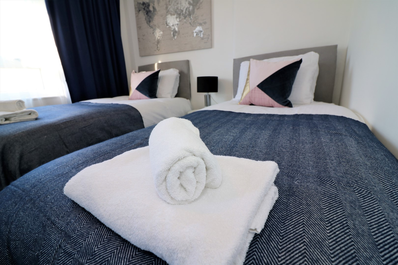 Stylish bedroom at Jess View Apartment - Citybase Apartments