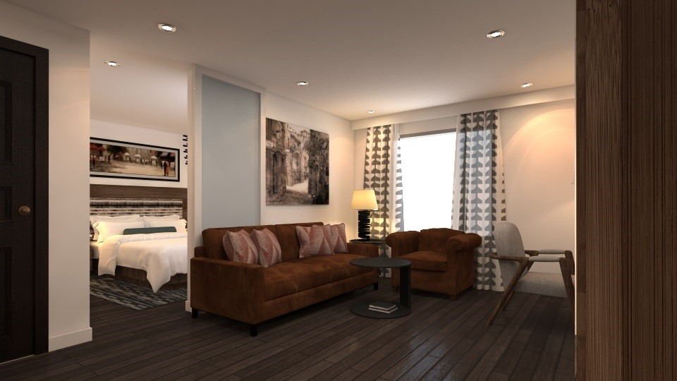 Sofa at Mode Arc De Triomphe Apartments - Citybase Apartments