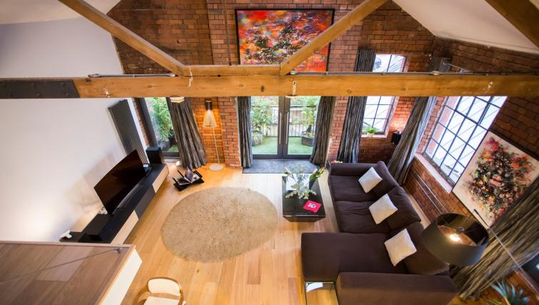 Spacious living area at Paintworks Apartments - Citybase Apartments