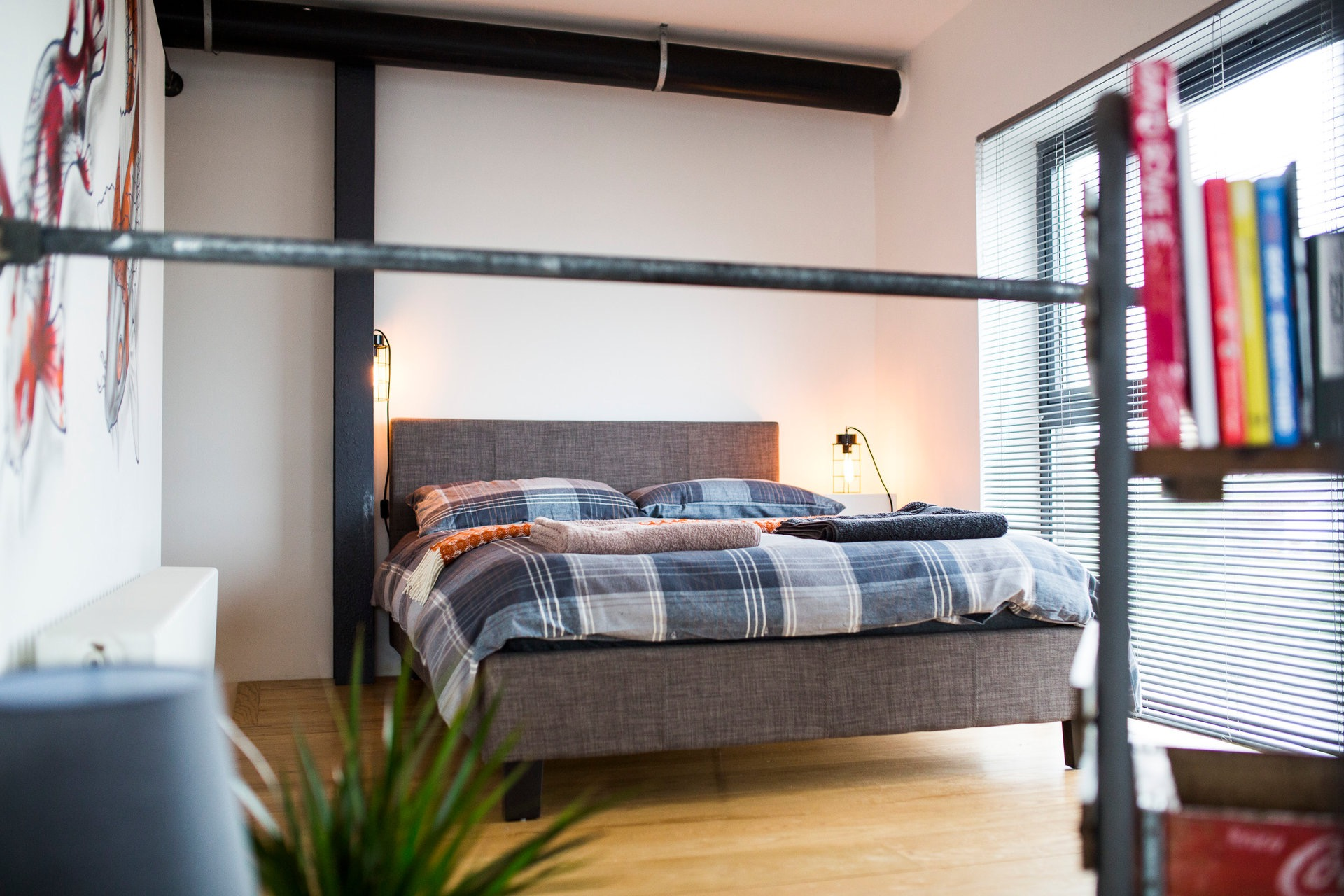 Bedding at Paintworks Apartments - Citybase Apartments