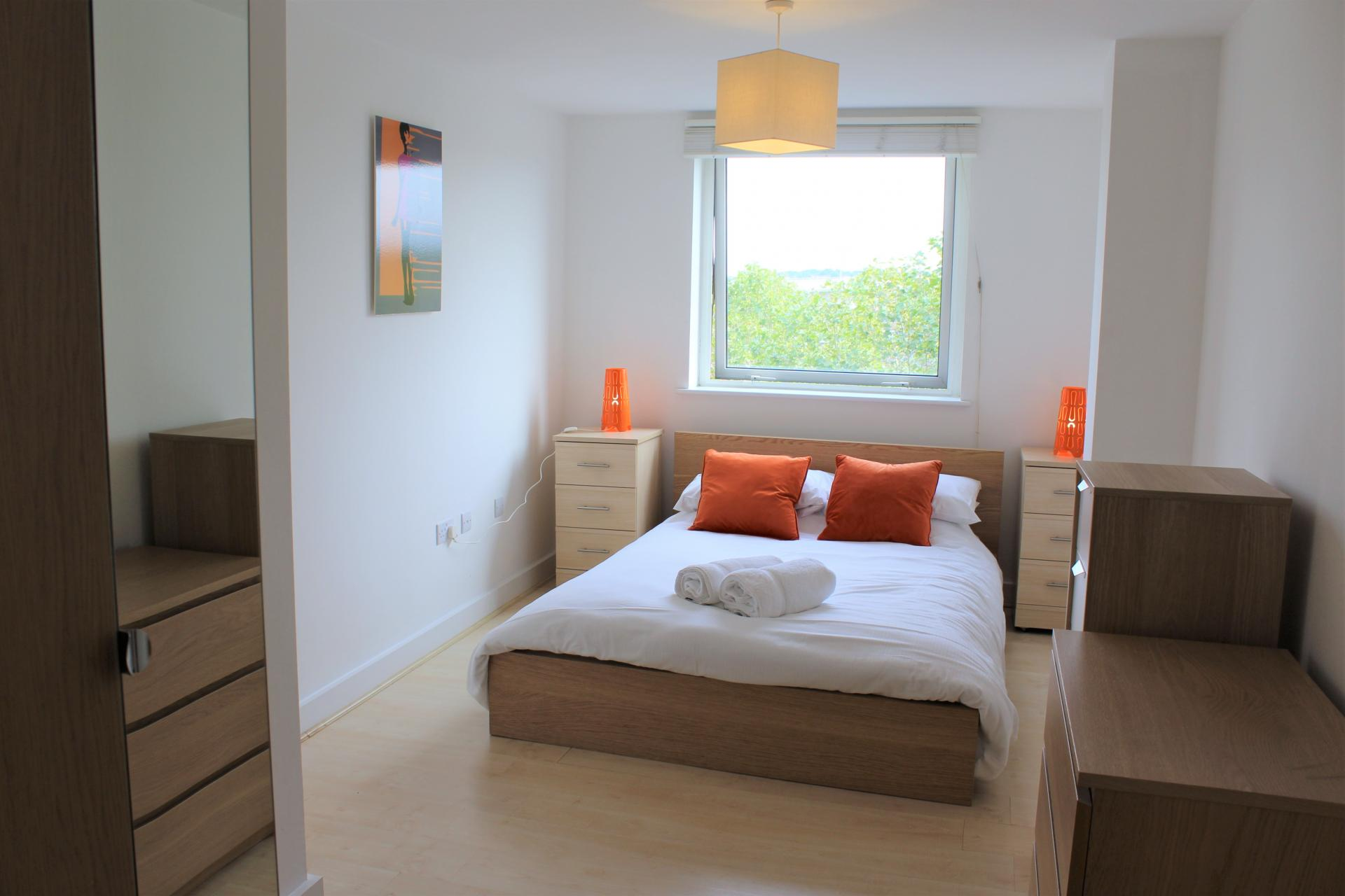 Bedroom at Ocean Village Serviced Apartments - Citybase Apartments