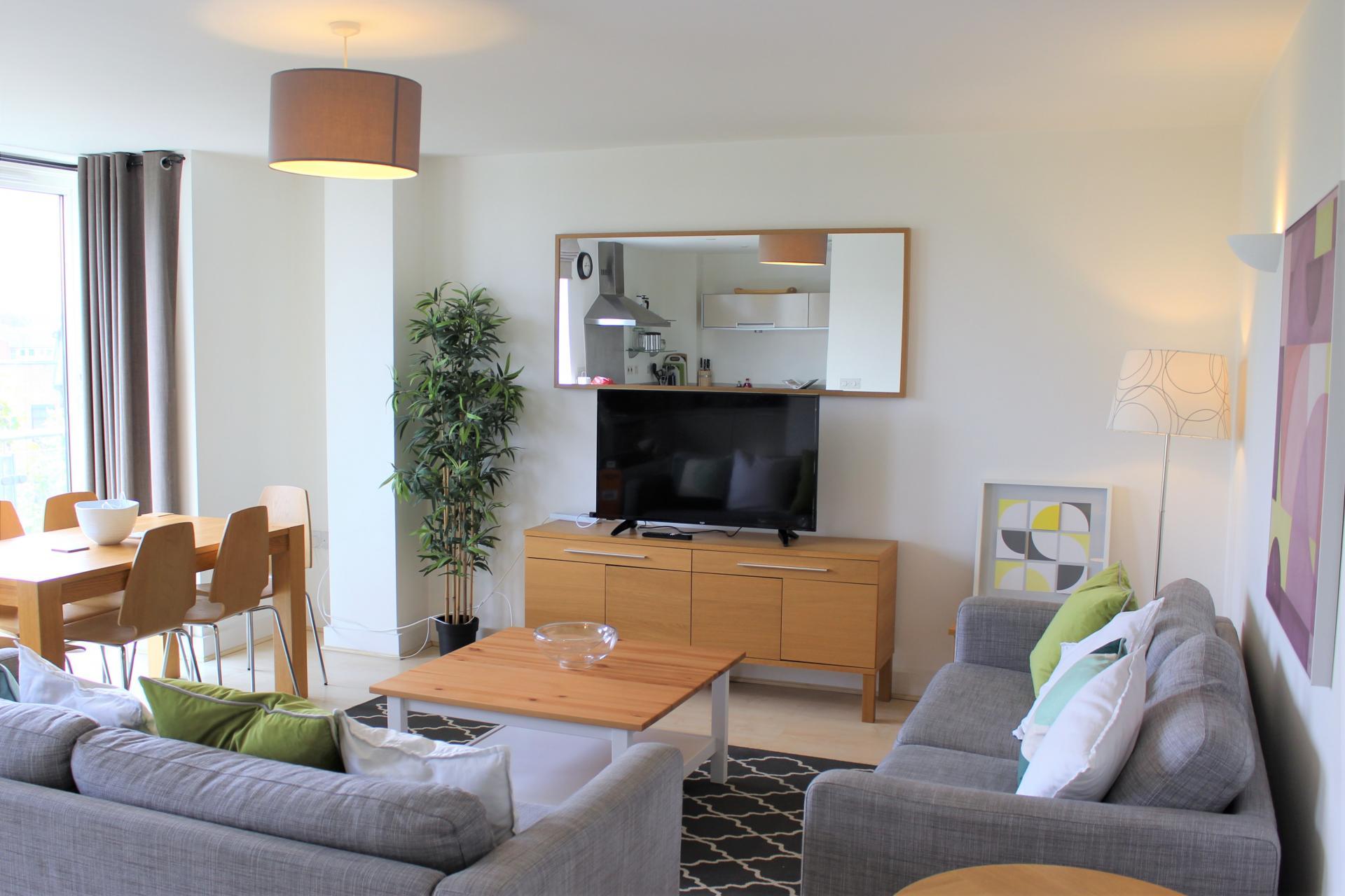 TV at Ocean Village Serviced Apartments - Citybase Apartments