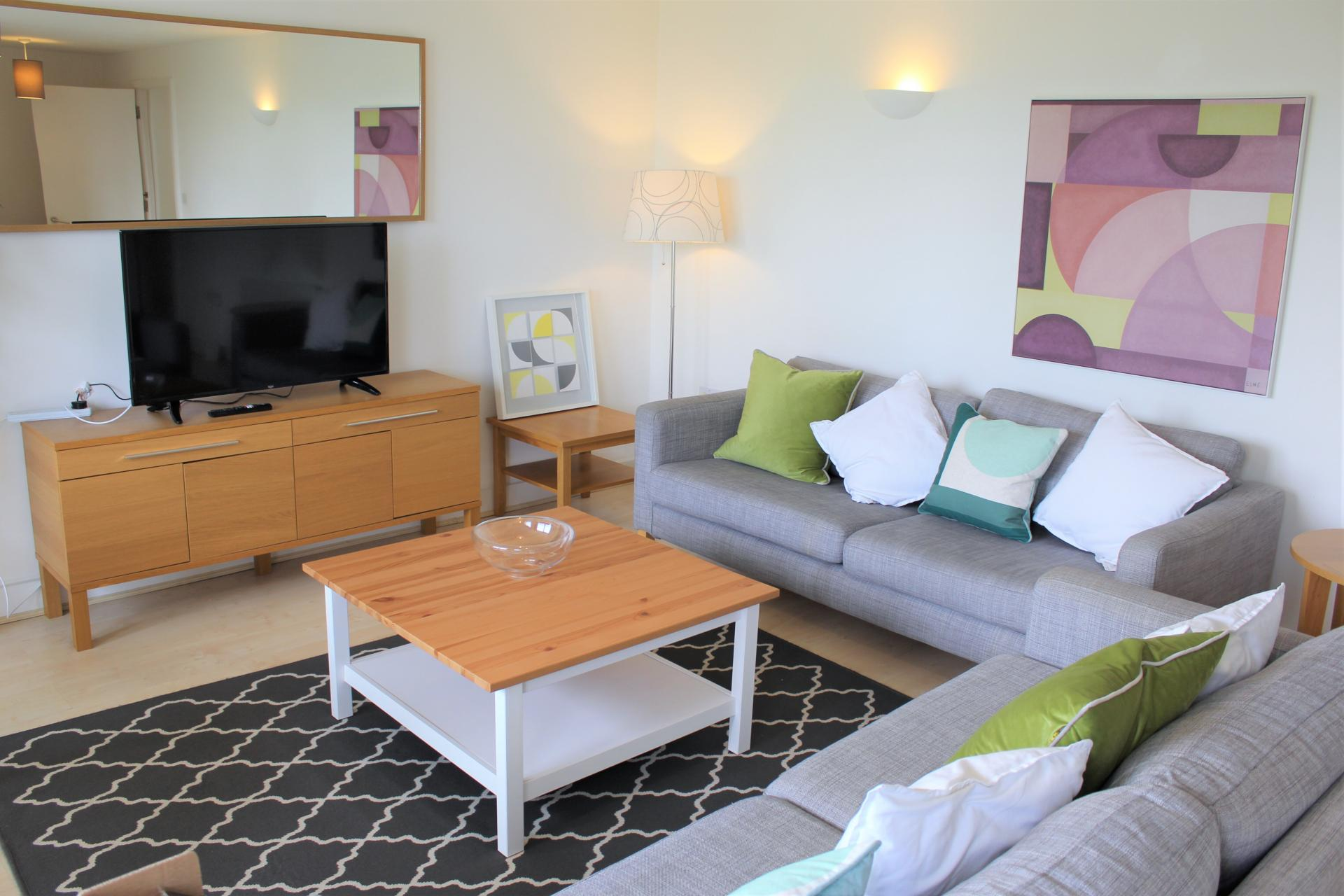 Living room at Ocean Village Serviced Apartments - Citybase Apartments