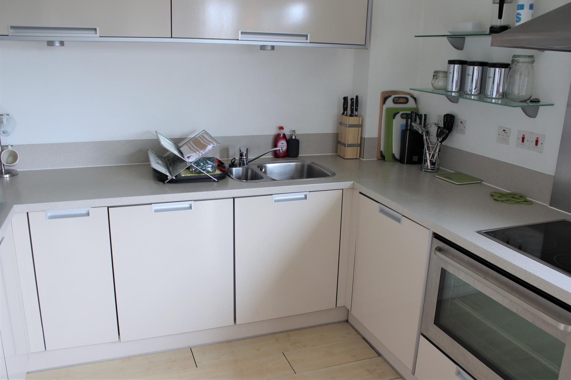 Kitchen worktops at Ocean Village Serviced Apartments - Citybase Apartments