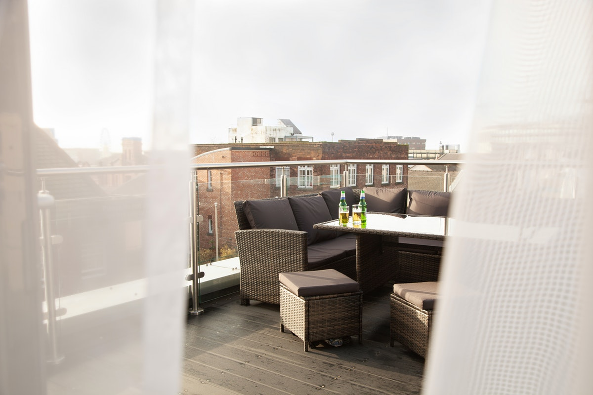 Terrace area at Duke Street Serviced Apartments - Citybase Apartments