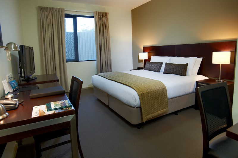 Bed at Quest Moorabbin Apartments - Citybase Apartments