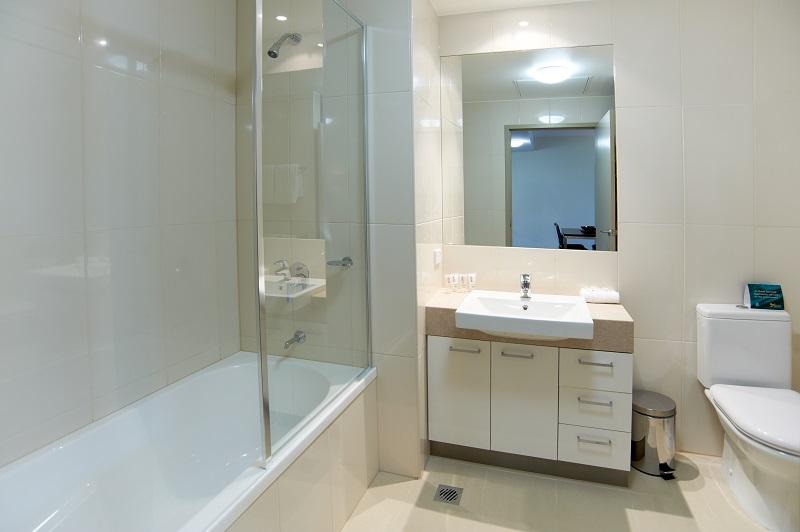 Bathroom at Quest Moorabbin Apartments - Citybase Apartments