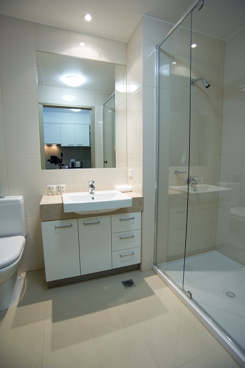 Shower at Quest Moorabbin Apartments - Citybase Apartments