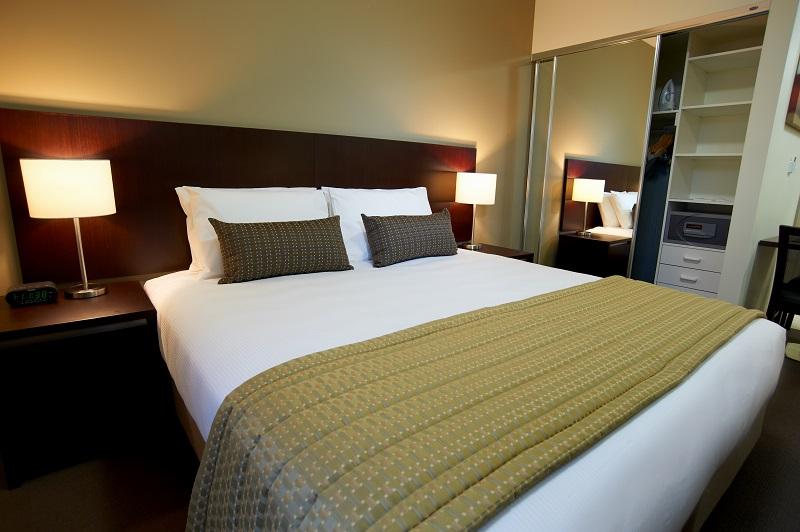 Bedroom at Quest Moorabbin Apartments - Citybase Apartments