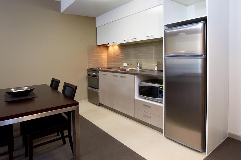 Kitchen at Quest Moorabbin Apartments - Citybase Apartments