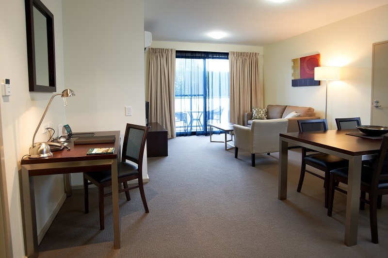 Living area at Quest Moorabbin Apartments - Citybase Apartments
