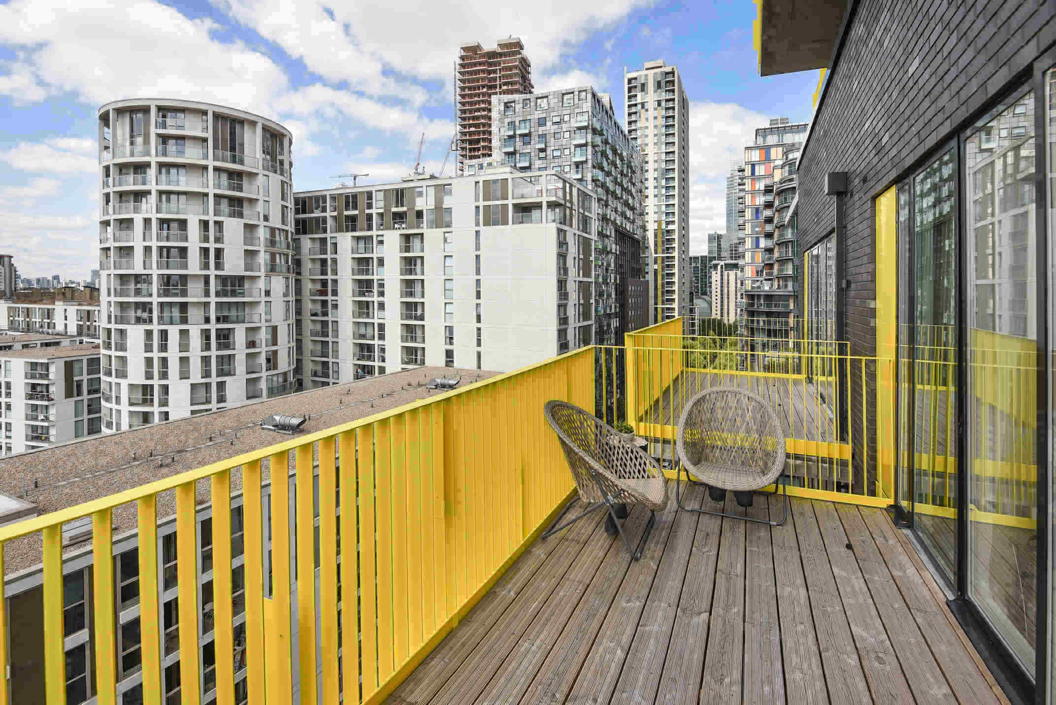 Balcony at Millharbour Residences - Citybase Apartments