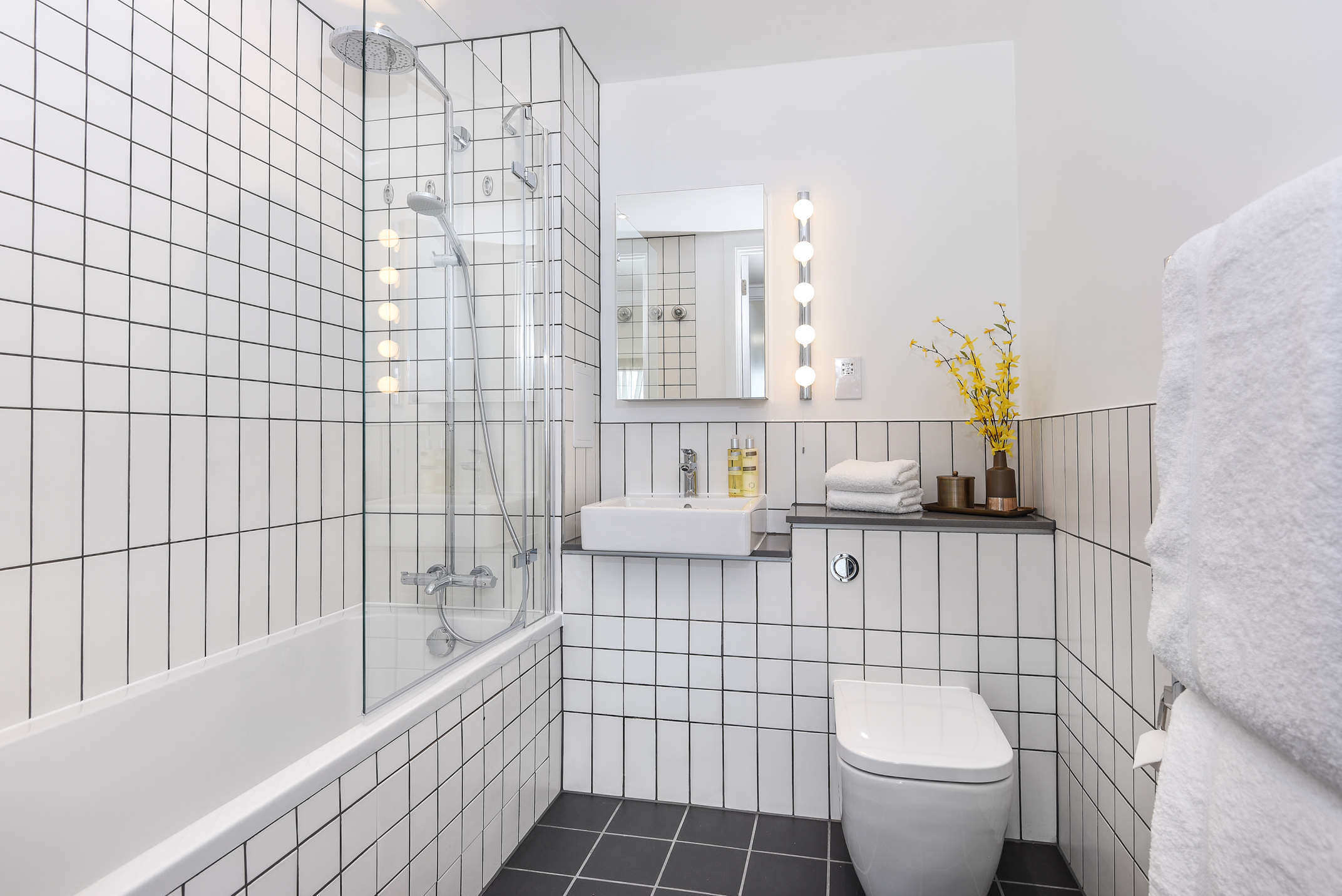 Bathroom at Millharbour Residences - Citybase Apartments