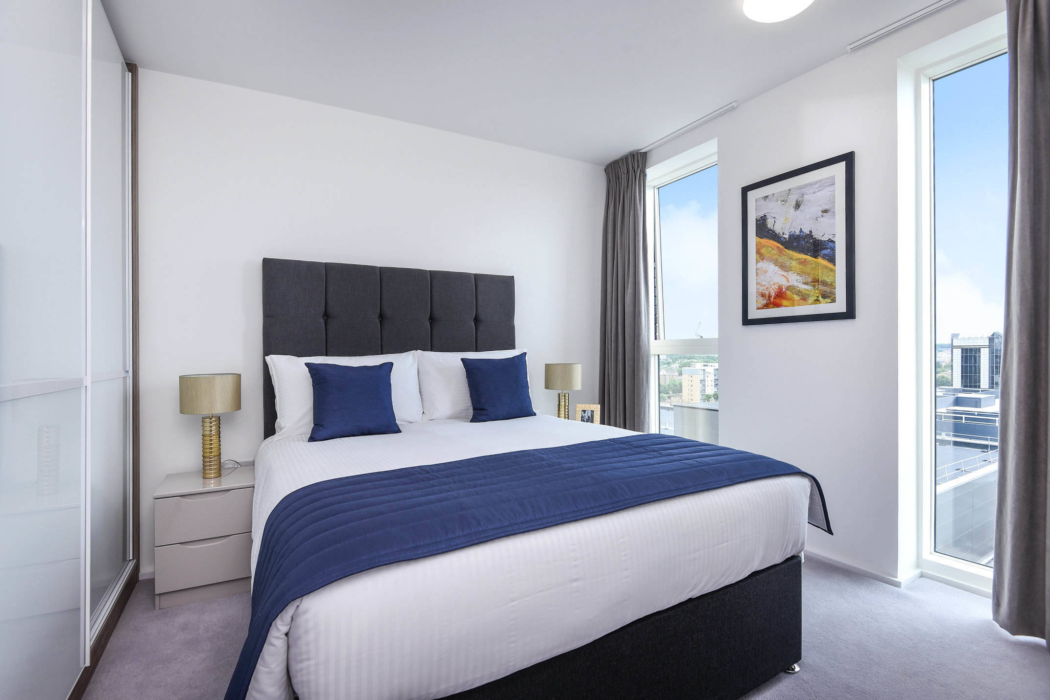 Bedroom at Millharbour Residences - Citybase Apartments