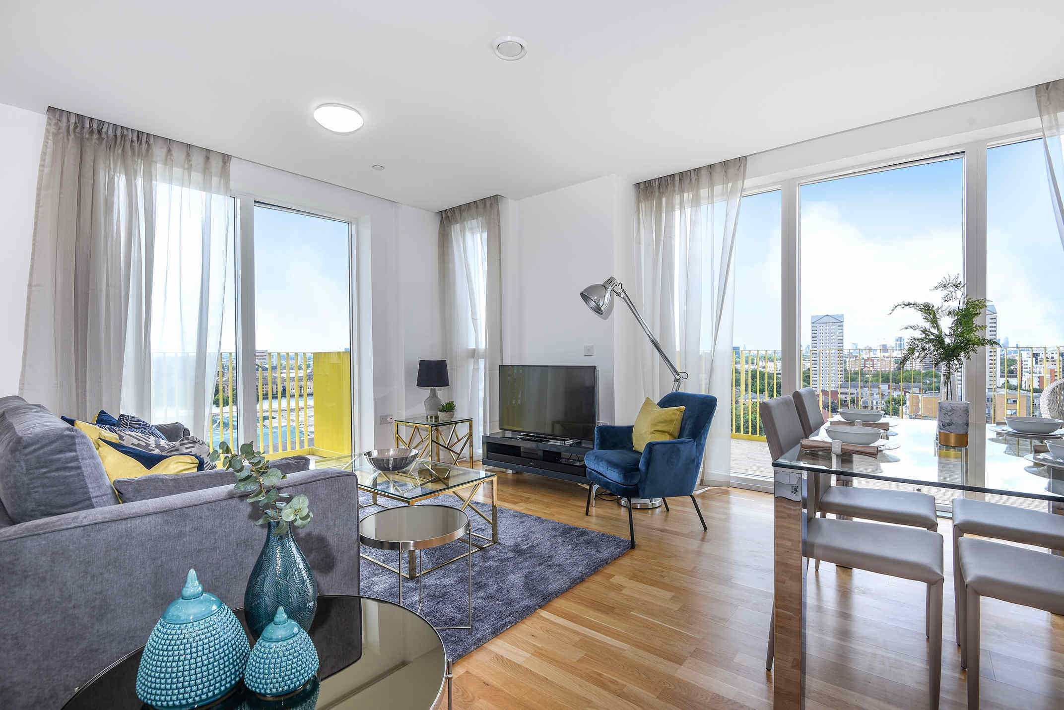 Living room at Millharbour Residences - Citybase Apartments