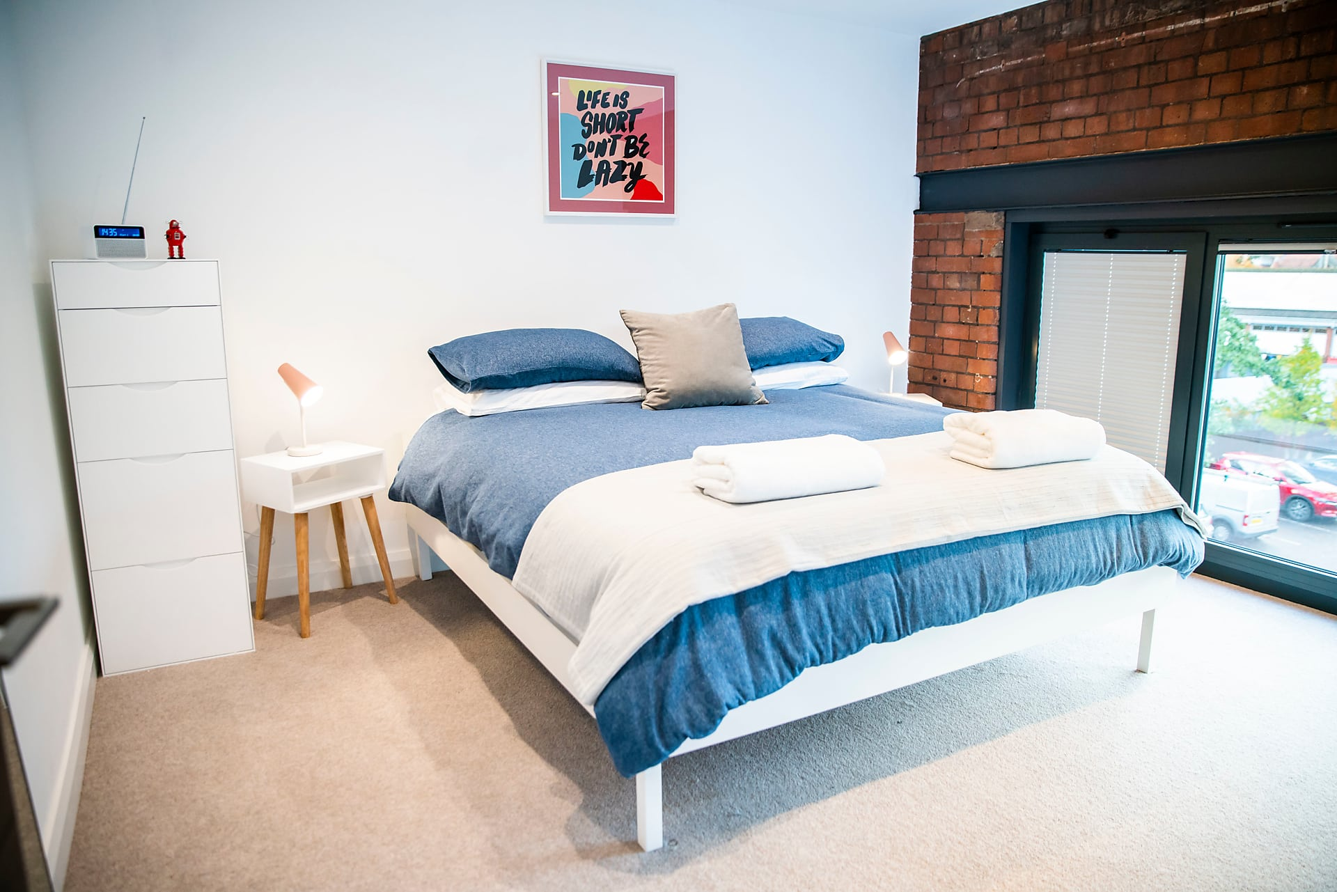 Master bedroom at The Cigar Factory Apartments - Citybase Apartments