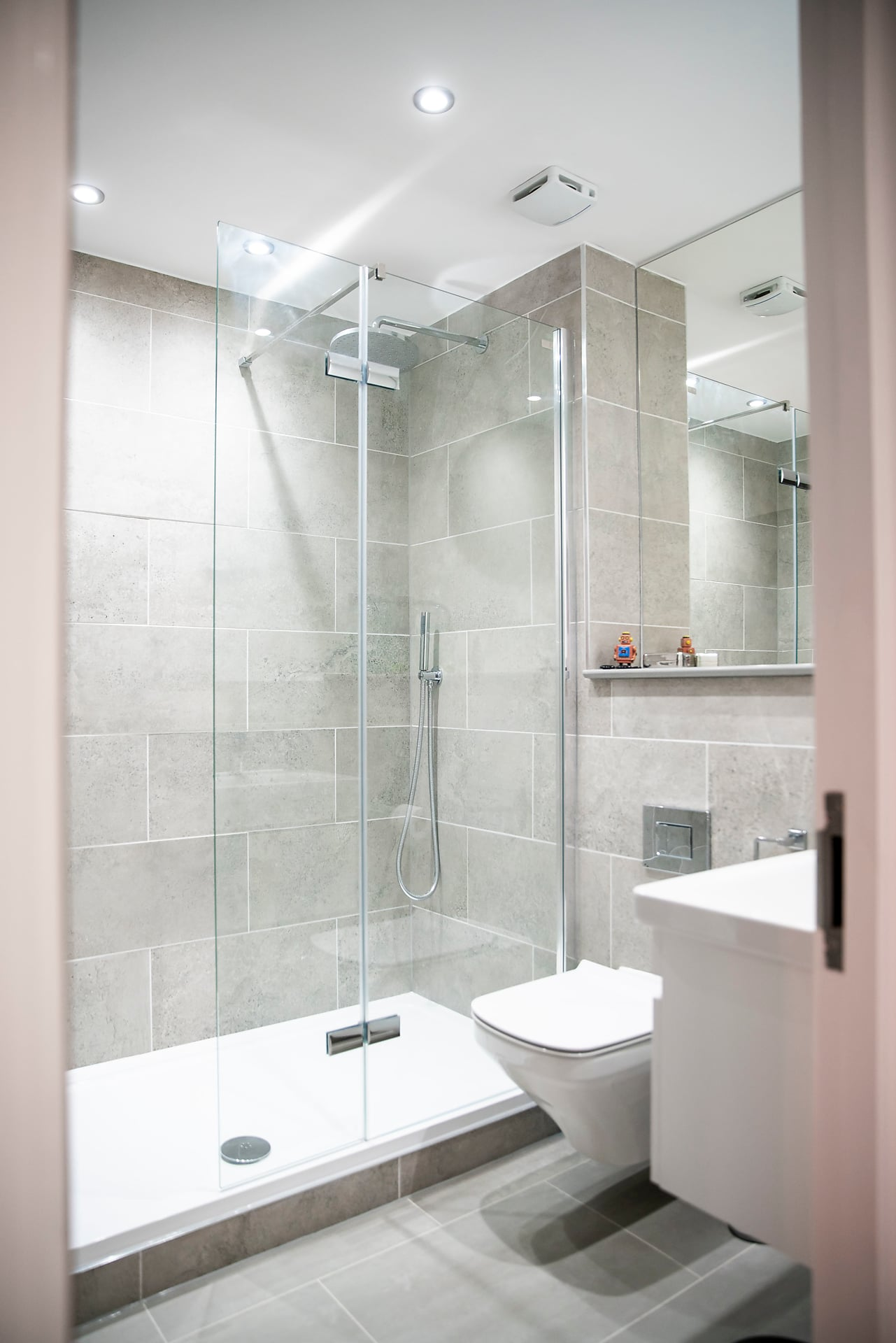 Shower room at The Cigar Factory Apartments - Citybase Apartments