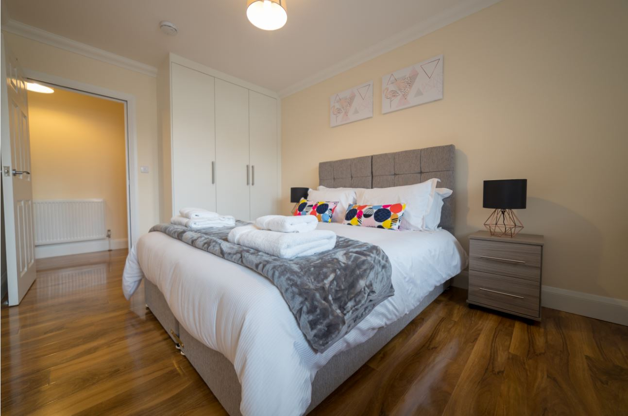 Bedroom at London Heathrow Serviced Apartments - Citybase Apartments