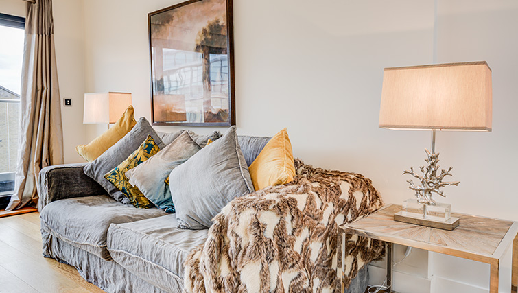 Sofa at Concord House - Citybase Apartments