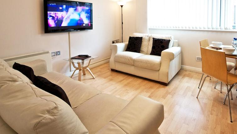 Stunning living area in Deansgate Apartments - Citybase Apartments