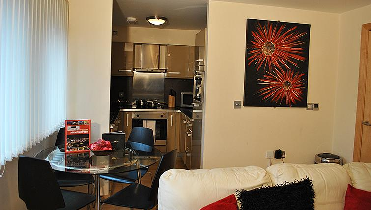 Open living area at Deansgate Apartments - Citybase Apartments
