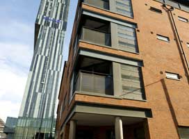 Exterior of Deansgate Apartments, Deansgate, Manchester - Citybase Apartments