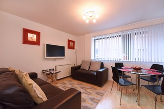 Expansive living area at Deansgate Apartments, Deansgate, Manchester - Citybase Apartments