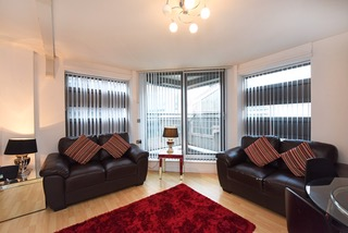 Light living area at Deansgate Apartments, Deansgate, Manchester - Citybase Apartments