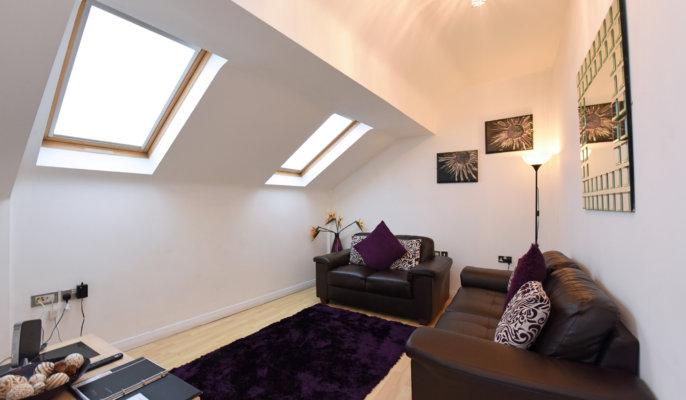 Cosy bedroom at Deansgate Apartments, Deansgate, Manchester - Citybase Apartments