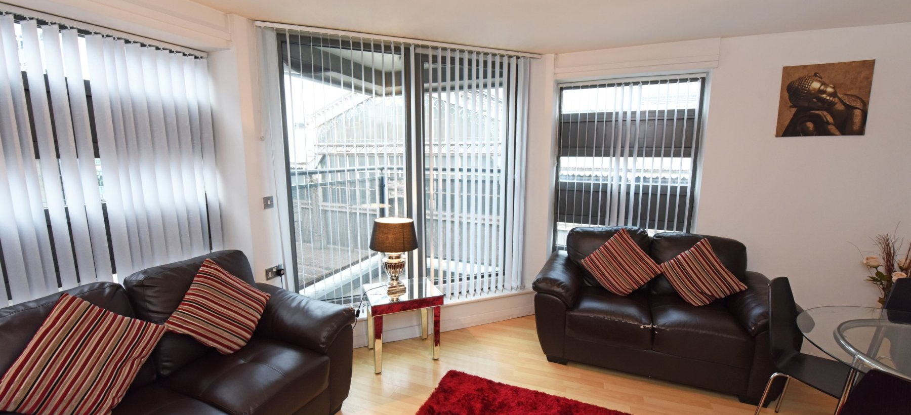 Plush bedroom at Deansgate Apartments, Deansgate, Manchester - Citybase Apartments