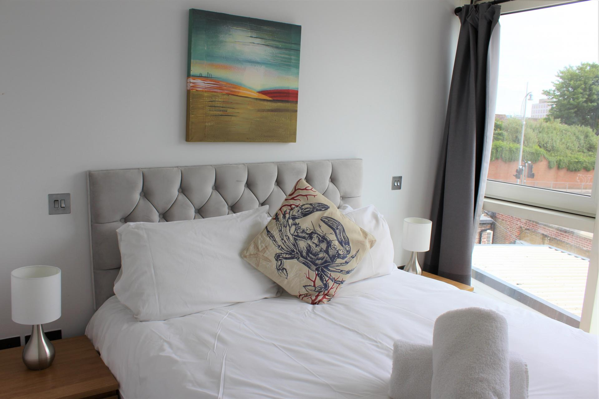 Bedroom at Gunwharf Quays Apartments, Gunwharf Quays, Portsmouth - Citybase Apartments