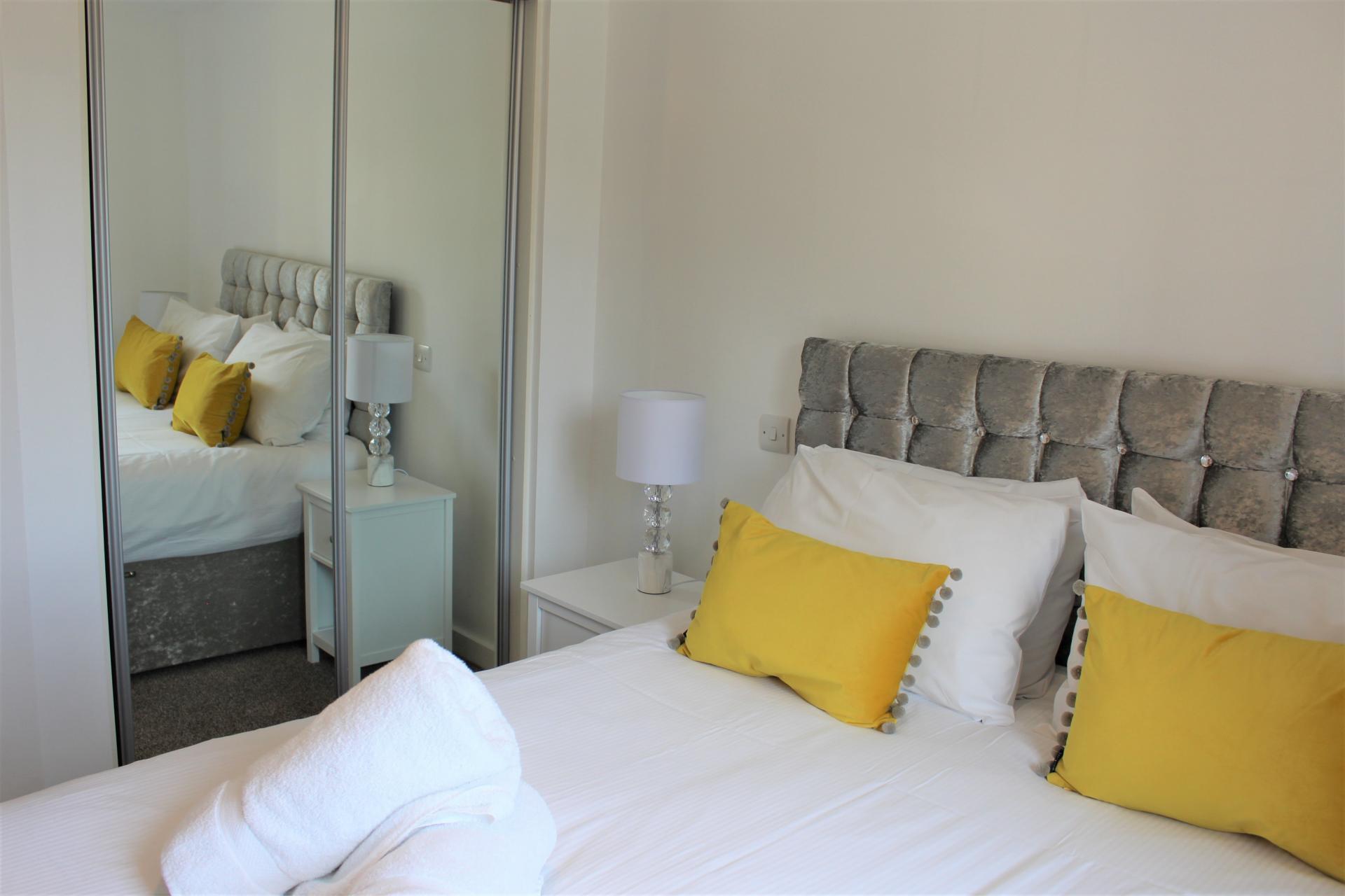 Bedding at Gunwharf Quays Apartments, Gunwharf Quays, Portsmouth - Citybase Apartments