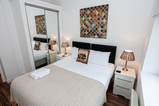Beautiful bedroom at Bloom Apartments, Centre, Manchester - Citybase Apartments