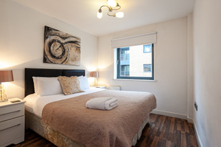 Cosy bedroom at Bloom Apartments, Centre, Manchester - Citybase Apartments