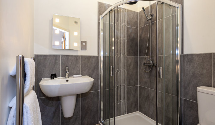 Shower at Bloom Apartments, Centre, Manchester - Citybase Apartments
