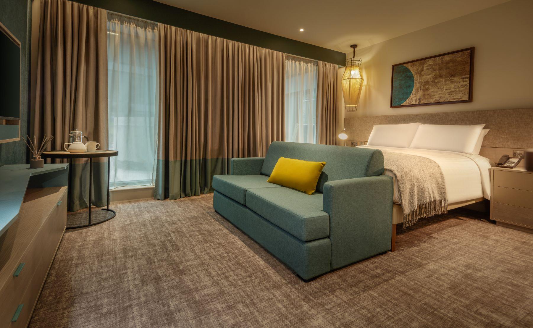 Sofa at  Staybridge Heathrow Apartments - Citybase Apartments