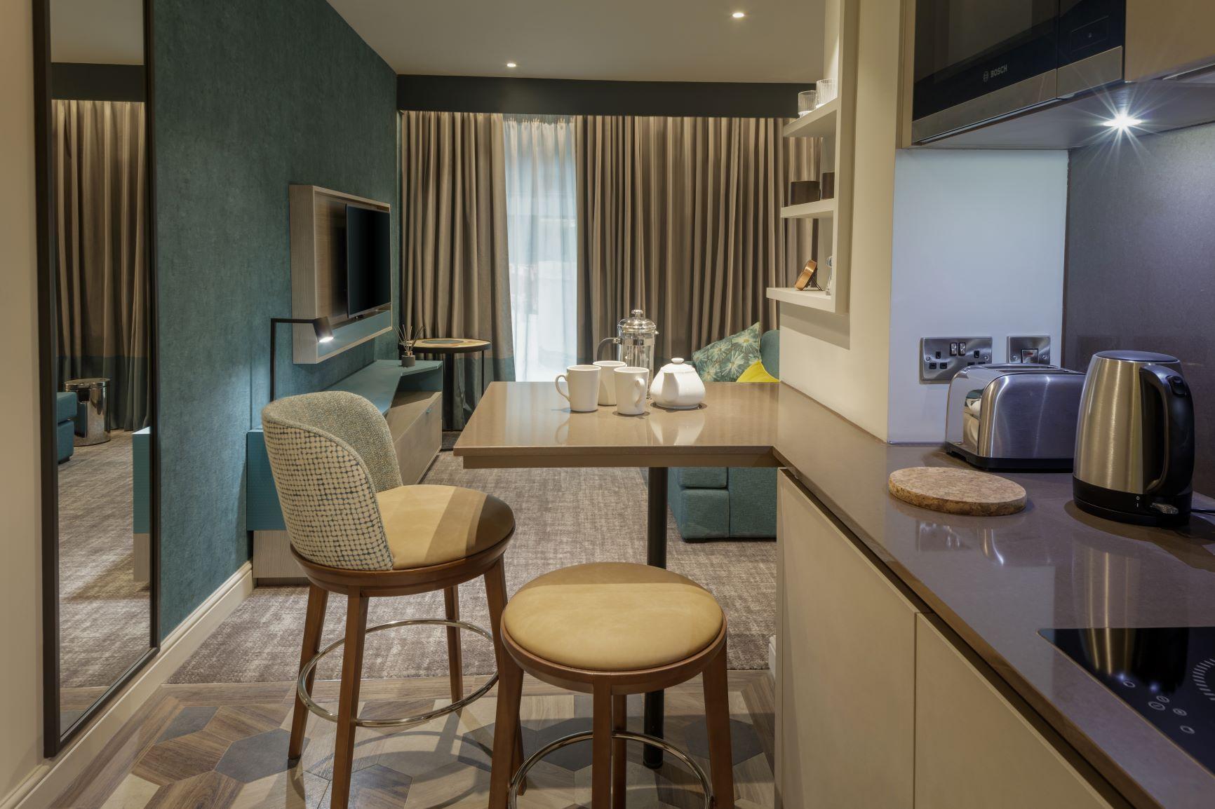 Kitchen at  Staybridge Heathrow Apartments - Citybase Apartments