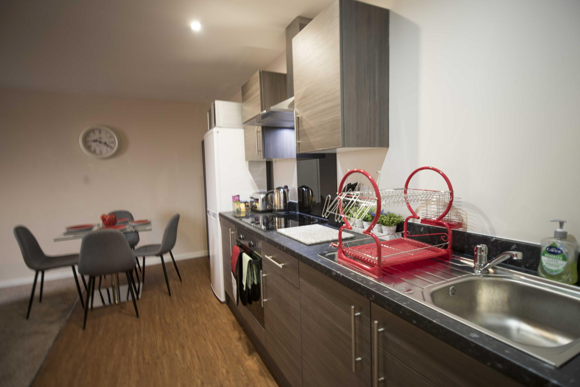 Kitchen facilities at Centauri Park Rise Apartments - Citybase Apartments