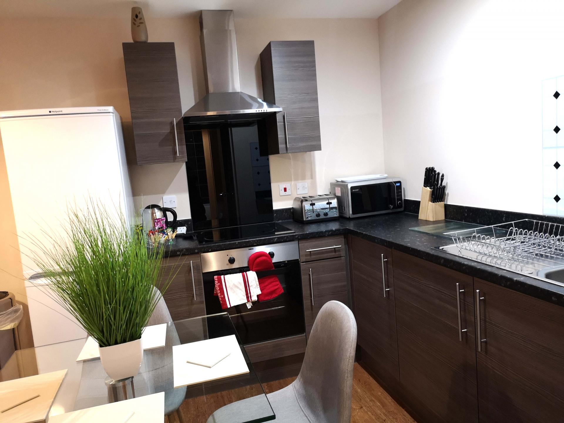 Modern kitchen at Centauri Park Rise Apartments - Citybase Apartments